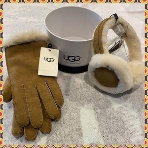 BNWT Ugg Suede Gloves & MatchingUgg Wired Earmuffs
